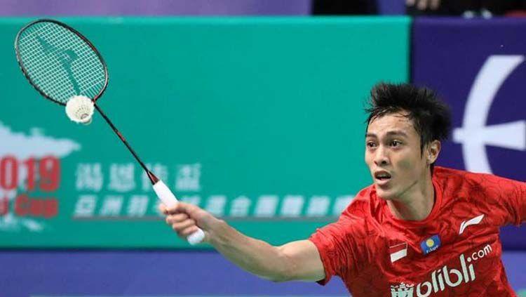 Tunggal putra Indonesia, Shesar Hiren Rhustavito hanya bisa menembus semifinal Chinese Taipei Open 2019. Copyright: © Dok. PBSI