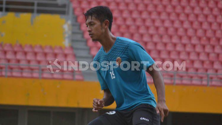 Bintang Sriwijaya FC, Yongki Aribowo optimis bisa kalahkan Persita Tangerang Copyright: © Muhammad Effendi/INDOSPORT