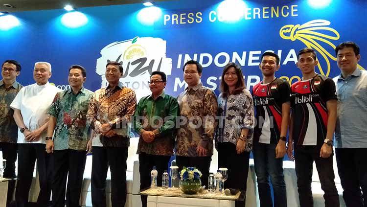 Konferensi Pers Yuzu Indonesia Masters 2019 di salah satu hotel bilangan Sudirman, Jakarta, Rabu (11/09/19). Copyright: © Shintya Anya Maharani/INDOSPORT