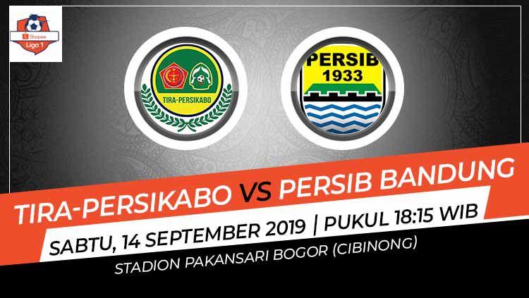 Laga pertama putaran kedua Shopee Liga 1 antara Tira-Persikabo melawan Persib Bandung pada Sabtu (14/9/19) pukul 18.15 WIB bisa disaksikan di Vidio.com. Copyright: © Grafis: Indosport.com