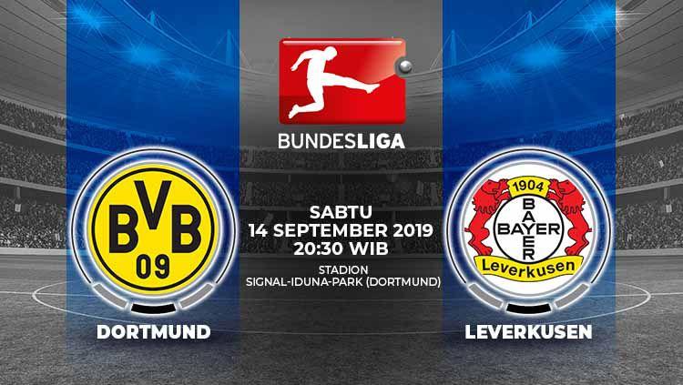 Pertandingan Borussia Dortmund vs Bayer Leverkusen. Copyright: © Grafis: Indosport.com