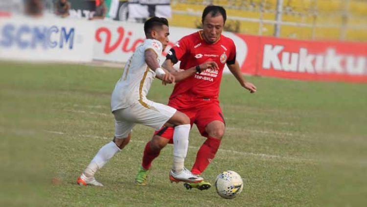 Laga pertangdingan antara Semen Padang vs PSS Sleman, Jumat (13/09/19). Copyright: © Media Semen Padang