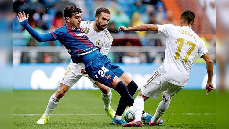 Salah satu rekor istimewa milik Lionel Messi di LaLiga Spanyol secara mengejutkan berhasil dipecahkan oleh Jose Campana, yang bermain untuk Levante. Copyright: © David S. Bustamante/Soccrates/Getty Images