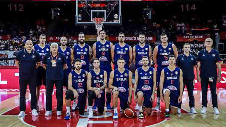Skuat Timnas Basket Serbia di FIBA World Cup 2019. Copyright: © VCG/GettyImages
