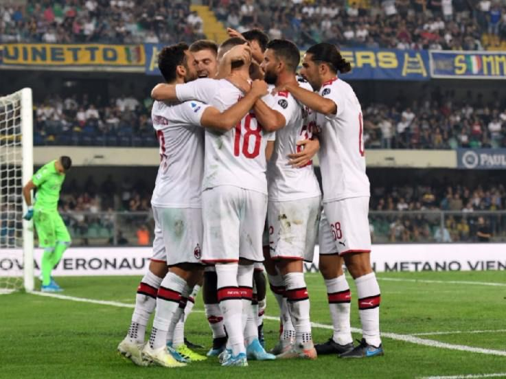 Hasil Pertandingan Serie A Italia 2019/20 Hellas Verona vs AC Milan: Gol Piatek Menangkan Rossoneri