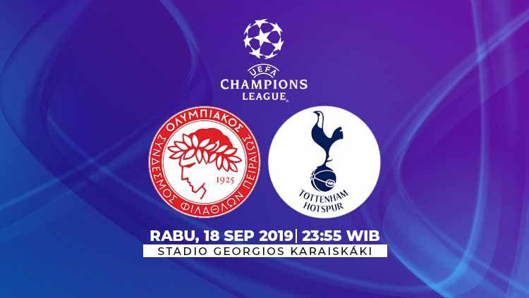 Berikut link streaming pertandingan Liga Champions 2019/20 antara Olympiakos vs Tottenham Hotspur yang berlangsung pada Rabu (18/9/19) pukul 23.55 WIB. Copyright: © INDOSPORT