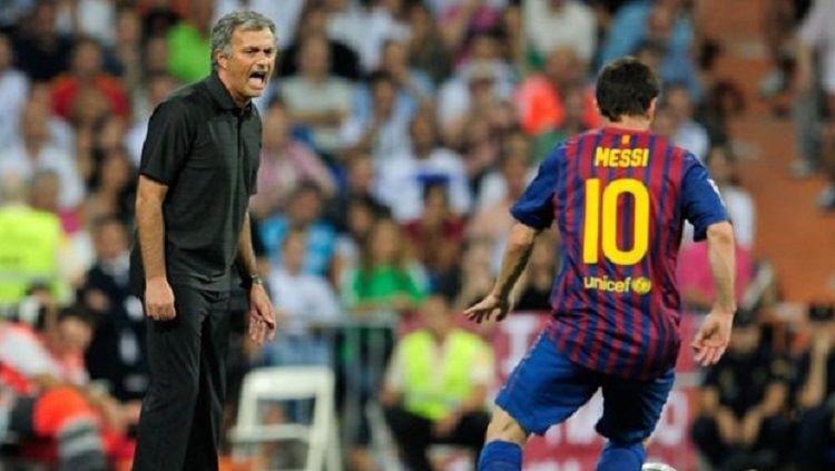 Jose Mourinho mengungkap peran Lionel Messi dalam perkembangan kariernya sebagai pelatih. Copyright: © www.soccerladuma.co.za