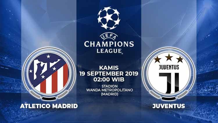 Berikut link streaming pertandingan Liga Champions 2019/20 antara Atletico Madrid vs Juventus yang berlangsung pada Kamis (19/9/19) pukul 02.00 WIB. Copyright: © Grafis: Yanto/Indosport.com