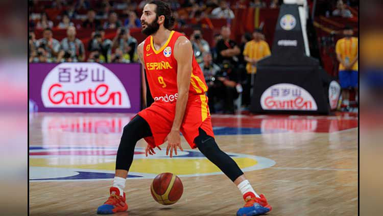 Ricky Rubio, bintang basket asal Spanyol. Copyright: © Fred Lee/GettyImages