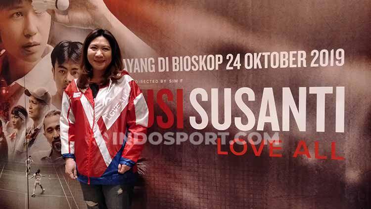 Susy Susanti, legenda bulutangkis Indonesia. Copyright: © Shintya Anya Maharani/INDOSPORT