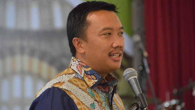 Menpora, Imam Nahrawi, saat memberikan arahan dalam sebuah acara di Kota Medan beberapa waktu lalu Copyright: © Istimewa