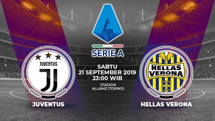 Berikut link live streaming Juventus vs Hellas Verona di pekan keempat Serie A Italia 2019-2020 Copyright: © Grafis: Yanto/Indosport.com