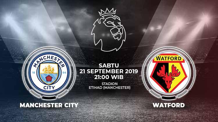 Pertandingan Manchester City vs Watford. Copyright: © Grafis: Yanto/Indosport.com