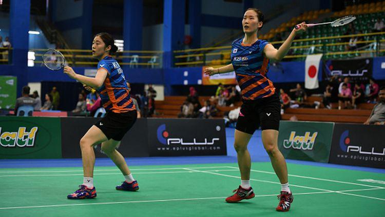 Chang Ye Na dan Hye Rin Kim, ganda putri Korea Selatan yang sukses singkirkan unggulan satu asal Jepang, Mayu Matsumoto/Wakana Nagahara. Copyright: © Robertus Pudyanto/Getty Images