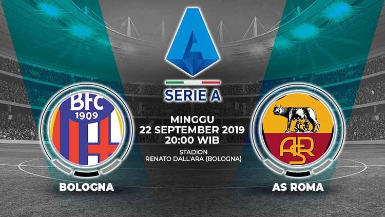 Pertandingan Bologna vs AS Roma. Copyright: © Grafis: Yanto/Indosport.com
