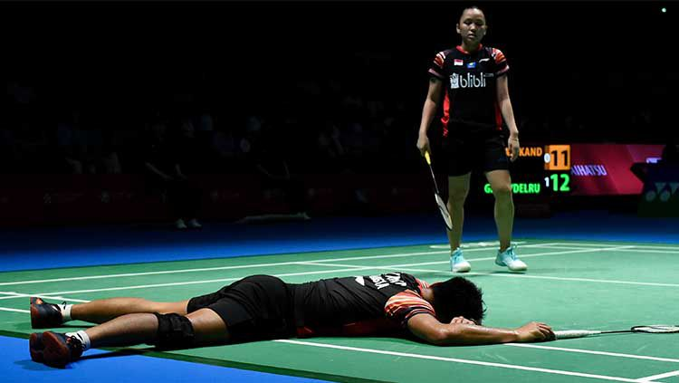 Ganda campuran Indonesia, Tontowi Ahmad/Winny Oktavina Kandow, gagal lolos ke semifinal China Open 2019. Copyright: © Matt Roberts/Getty Images
