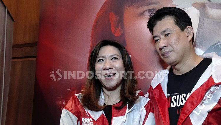 Susy Susanti dan Alan Budikusuma, tokoh legendaris bulutangkis Indonesia. Copyright: © Shintya Maharani/INDOSPORT