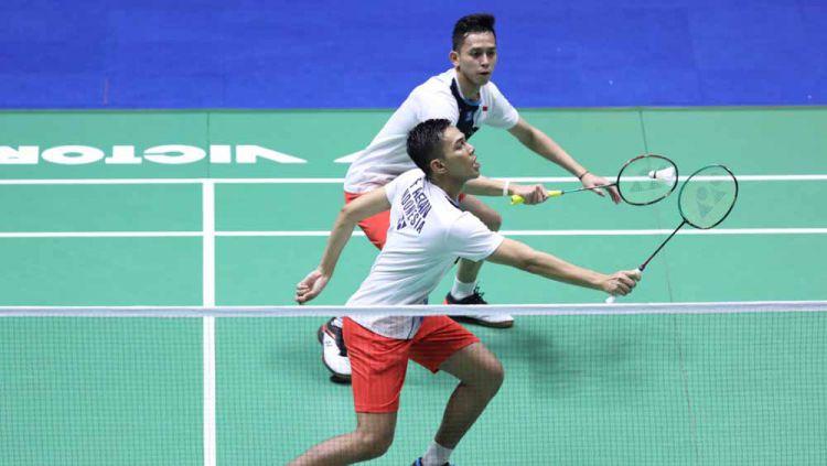Fajar dan Rian sukses melaju ke semifinal China Open 2019. Copyright: © Humas PBSI