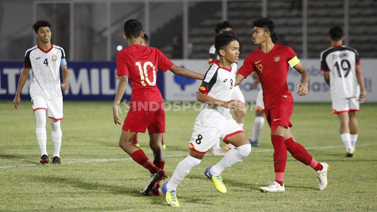 Laga pertandingan antara Brunai Darussalam U-16 vs Indonesia U-16 di Stadion Madya GBK Senayan, Jumat (20/09/19). Copyright: © Herry Ibrahim/INDOSPORT