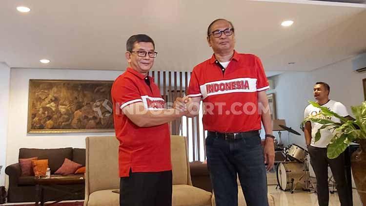 Rahim Soekasah dan Doli Sinomba maju dalan perebutan kursi Ketua Umum PSSI. Copyright: © Zainal Hasan/INDOSPORT
