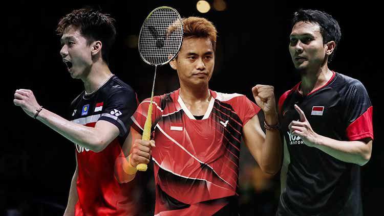 Kevin Sanjaya, Tontowi Ahmad, dan Mohammad Ahsan adalah beberapa pemain yang ikut ke . Copyright: © Dean Mouhtaropoulos/Getty Images/Shi Tang/Getty Images/Shi Tang/Getty Images