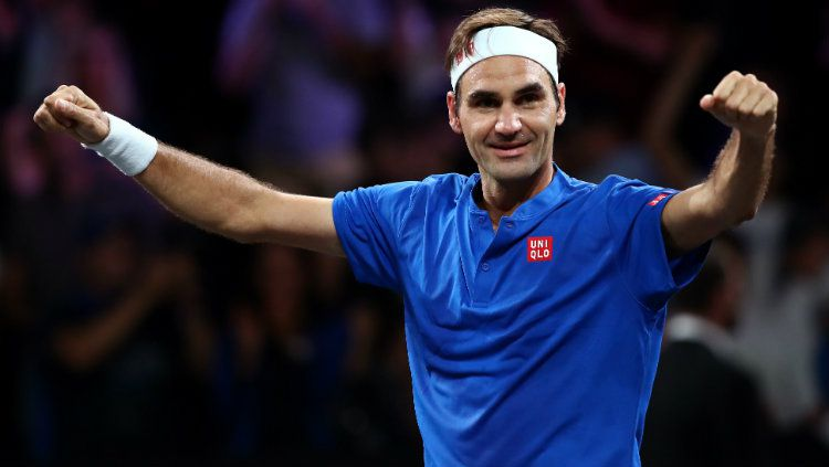 Roger Federer di ajang Laver Cup 2019. Copyright: © Clive Brunskill/Getty Images for Laver Cup