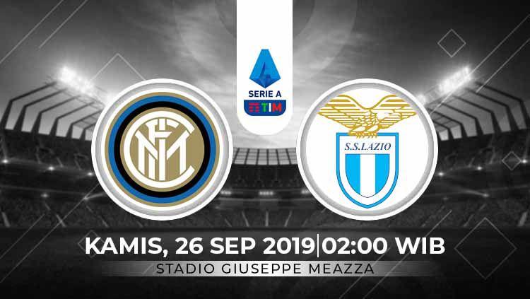 Prediksi pertandingan Inter Milan vs Lazio pada giornata ke-5 Serie A Italia 2019-20, Kamis (26/09/19) dini hari, pukul 02.00 WIB, di Giuseppe Meazza. Copyright: © INDOSPORT