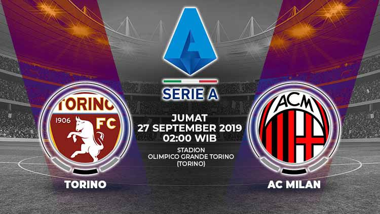 Dua tim yang sedang terluka, Torino dan AC Milan, akan bersua pada laga giornata kelima Serie A Italia 2019-2020, Jumat (27/09/19) dini hari WIB. Copyright: © Grafis: Yanto/Indosport.com
