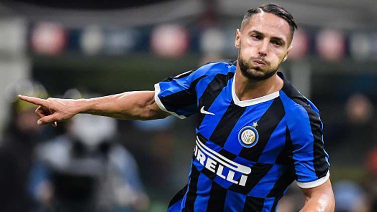 Selebrasio Danilo D'Ambrosio, pemain Inter Milan Copyright: © Vi-Images/GettyImages