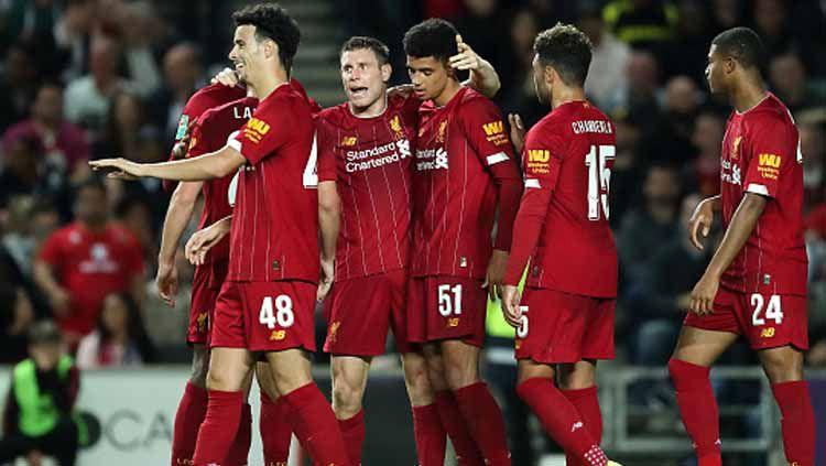 Liverpool dipastikan bakal memiliki kombinasi pemain mematikan jelang pertandingan Liga Inggris 2019-2020 lanjutan melawan Manchester United. Copyright: © James Williamson/GettyImages
