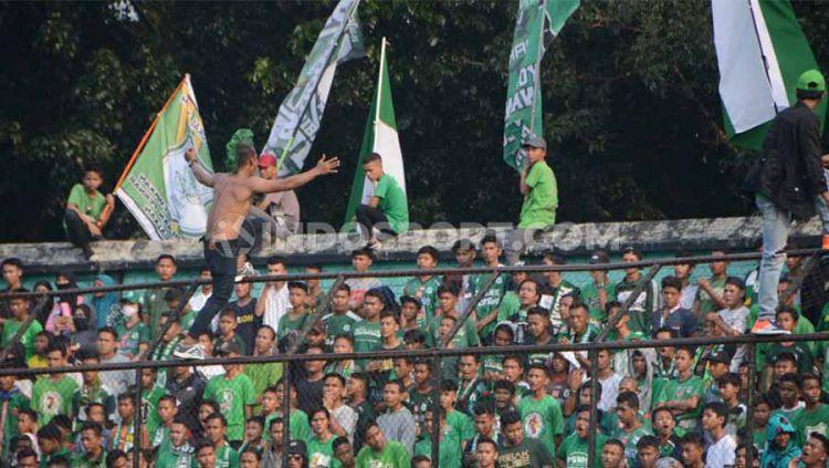 Kelompok suporter PSMS Medan, SMeCK Hooligan. Copyright: © Aldi Aulia Anwar/INDOSPORT
