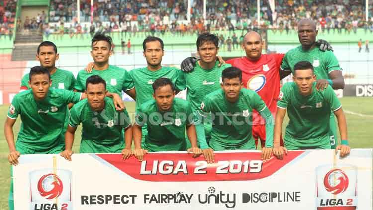 Skuat PSMS Medan di Liga 2 2019. Copyright: © Aldi Aulia/INDOSPORT