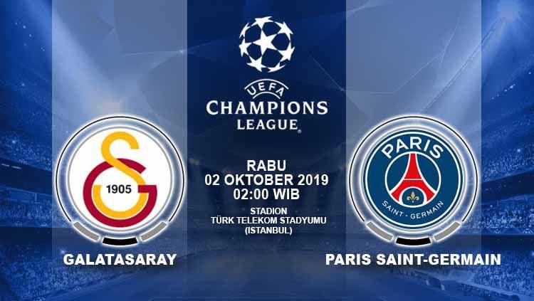Prediksi pertandingan Galatasaray vs Paris Saint-Germain dalam lanjutan matchday dua Liga Champions 2019/20, Rabu (02/10/19) dini hari WIB. Copyright: © Grafis: Yuhariyanto/INDOSPORT