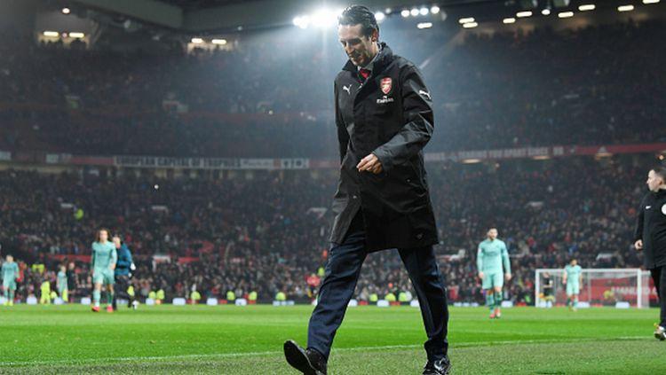 Pelatih Arsenal, Unai Emery, mendapat dukungan dari salah satu anak asuhnya yang menyebutnya telah mengerahkan 100 persen kemampuannya Copyright: © Stuart MacFarlane/Arsenal FC via Getty Images