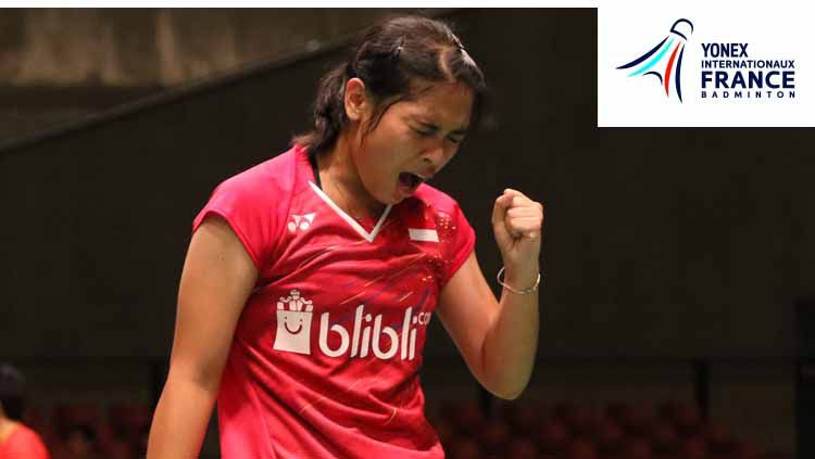 Kemenangan lagi dipersembahkan Gregoria Mariska Tunjung setelah menundukkan pebulutangkis Inggris Abigail Holden, grup B Piala Sudirman 2019 Copyright: © https://badmintonindonesia.org