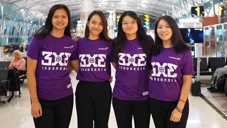 Tim nasional bola basket 3x3 putri Indonesia. Copyright: © 3x3indonesia