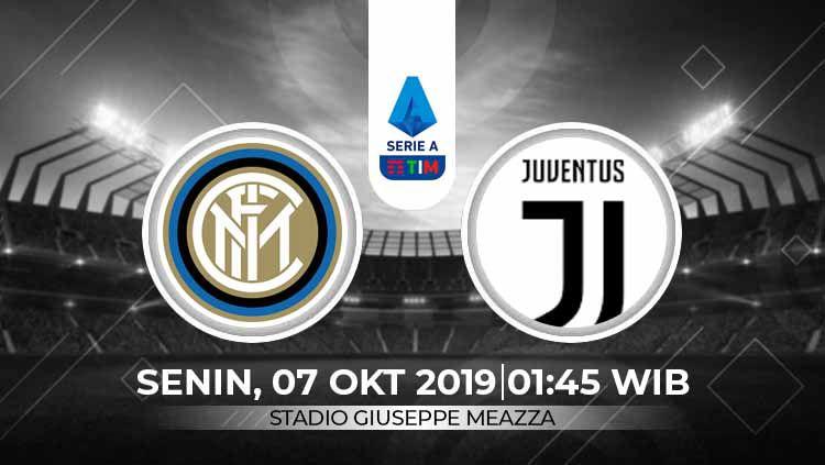 Prediksi pertandingan pekan ketujuh kompetisi Serie A Italia 2019/20 antara Inter Milan vs Juventus. Copyright: © INDOSPORT