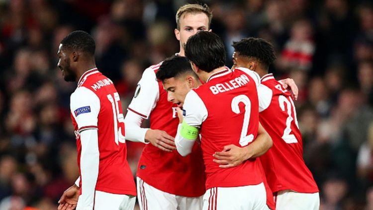 Hasil pertandingan antara Arsenal vs Standard Liege pada ajang Liga Europa 2019-2020 Grup F di Stadion Emirates Copyright: © Dan Istitene/Getty Images