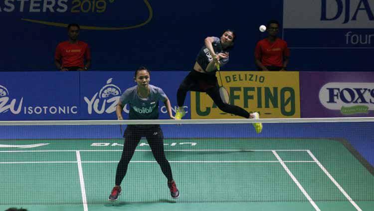Della/Rizki melaju ke final Indonesia Masters 2019 usai mengalahkan wakil China. Copyright: © Humas PBSI