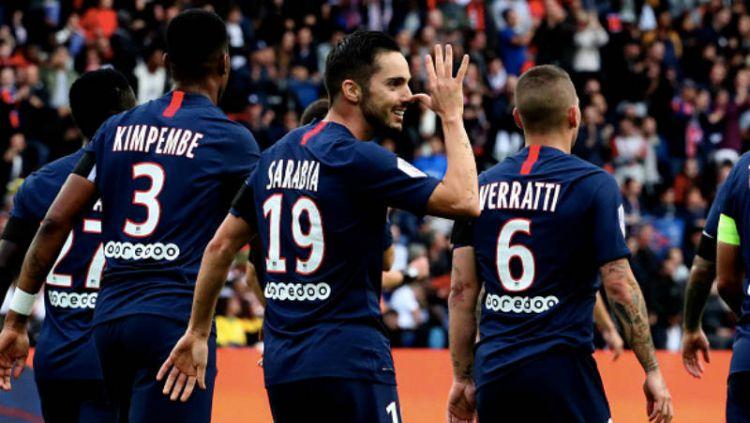Selebrasi para pemain PSG. Copyright: © Xavier Laine/GettyImages