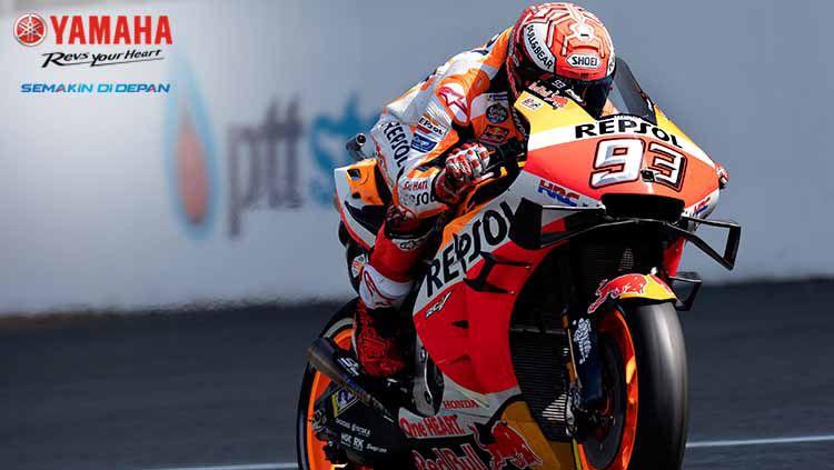 Marc Marquez berhasil keluar sebagai juara di MotoGP Sirkuit Internasional Buriram Copyright: © Mirco Lazzari gp/Getty Images