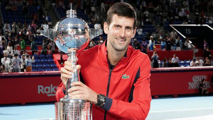 Novak Djokovic memenangkan Jepang Terbuka 2019. Copyright: © Koji Watanabe/Getty Images