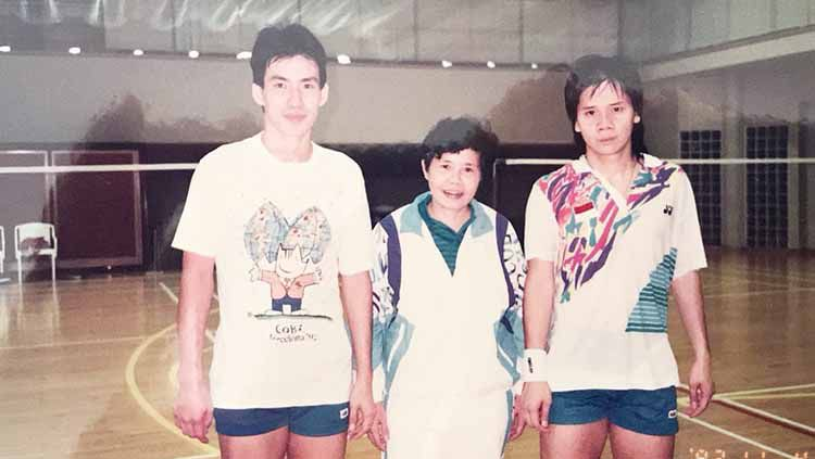 Potret Alan Budikusuma dan Ardy B. Wiranata pada tahun 1992. Copyright: © Dok. Pribadi Ardy B. Wiranata