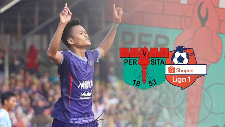 Daftar top skor hingga babak 8 besar Liga 2 2019 membuat Striker Persita Tangerang Sirvi Arfani dipepet penyerang Persiraja Banda Aceh Assanur Rijal. Copyright: © Persita FC Official