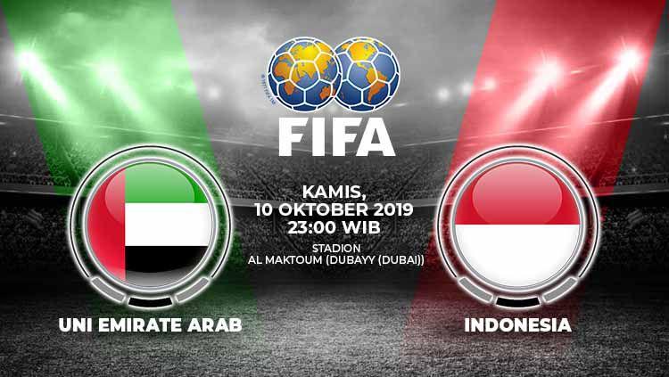 Pertandingan Uni Emirate Arab vs Indonesia. Copyright: © Grafis: Yanto/Indosport.com