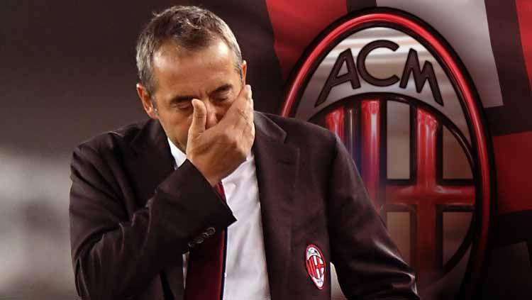 Adik dari Marco Giampaolo mengkritik pedas raksasa Serie A Liga Italia, AC Milan, yang telah mendepak saudaranya itu dan menggantinya dengan Stefano Pioli. Copyright: © Alessandro Sabattini/Getty Images/INDOSPORT