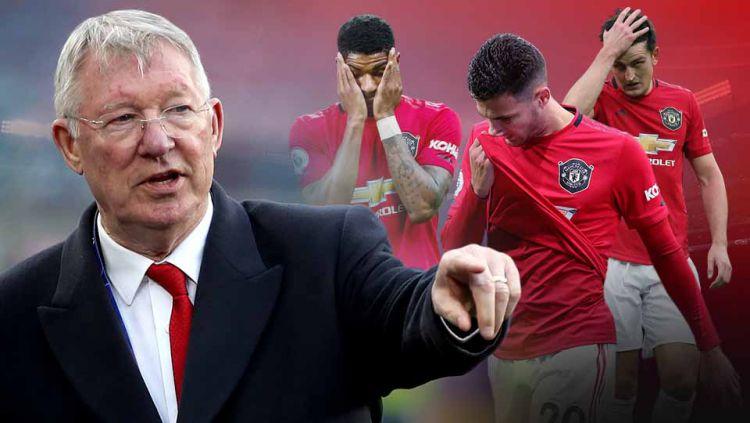 Sir Alex Ferguson dikabarkan bakal naik pangkat menyusul mundurnya Ed Woodward dari posisinya sebagai Wakil CEO Manchester United. Copyright: © Grafis: Yanto/Indosport.com