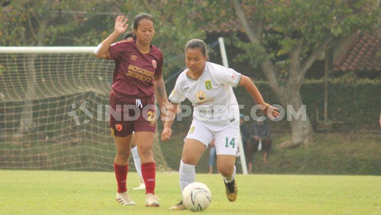 Pertandingan PSM Makassar vs Persebaya di Liga 1 Putri 2019. Copyright: © Copyright Fitra Herdian/Indosport.