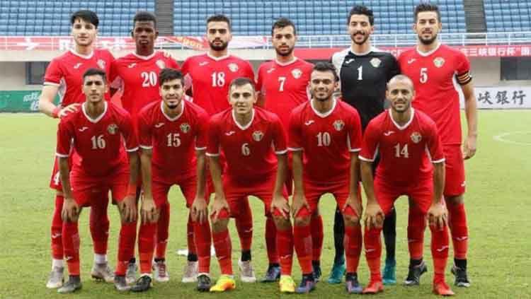 Skuat Yordania U-23 yang diprediksi bakal memainkan pertandingan melawan Timnas Indonesia U-23 di ajang Turnamen CFA. Copyright: © Instagram/@jorda.fa