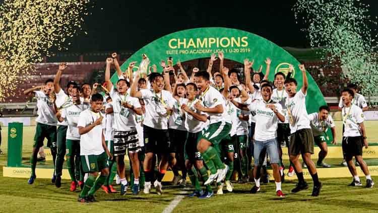 Persebaya Surabaya U-20 juara Liga 1 U-20 2019, Sabtu (12/10/19). Copyright: © Twitter/@persebayaupdate